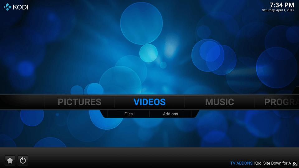 In KODI 16, Under the Videos Menu, click Add-Ons