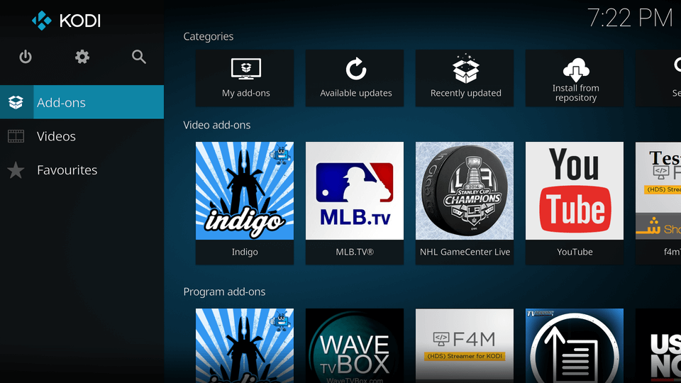 In KODI 17, highlight and click ok on 'add-ons' menu along the left side